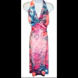 Joli clothes 3D multi color butterfly/forest dress
